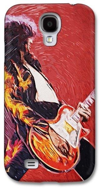 Lead Galaxy S4 Cases - Jimmy Page  Galaxy S4 Case by Taylan Soyturk