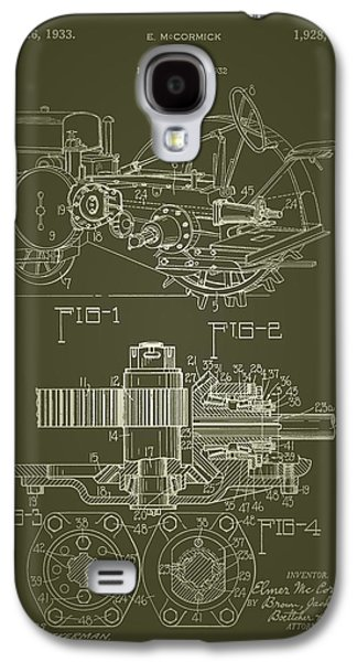 Machinery Drawings Galaxy S4 Cases - John Deere Tractor Patent 1933 Galaxy S4 Case by Mountain Dreams