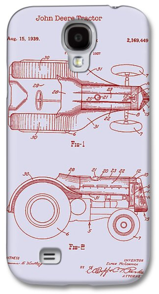 Machinery Drawings Galaxy S4 Cases - John Deere Tractor Patent 1939 Galaxy S4 Case by Mountain Dreams