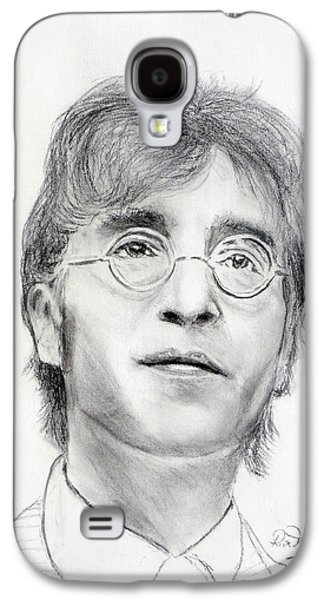 Beatles Pastels Galaxy S4 Cases - John Lennon Beatles Galaxy S4 Case by Ruth Jamieson