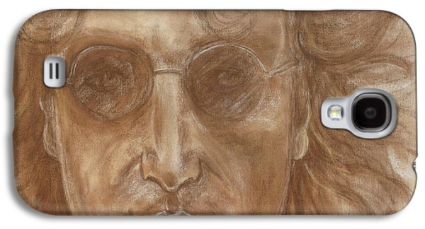 Beatles Pastels Galaxy S4 Cases - John Lennon Galaxy S4 Case by Laura Corebello