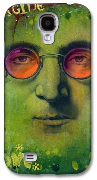 Beatles Galaxy S4 Cases - John Lennon Galaxy S4 Case by Luis  Navarro