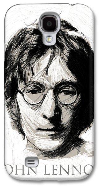 Beatles Drawings Galaxy S4 Cases - John Lennon Galaxy S4 Case by Stefan Kuhn