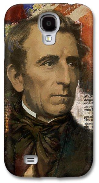 James Buchanan Galaxy S4 Cases - John Tyler Galaxy S4 Case by Corporate Art Task Force