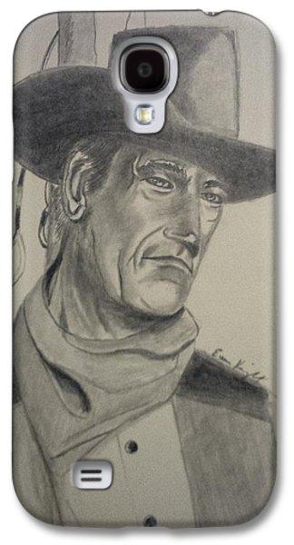 John Wayne Drawings Galaxy S4 Cases - John Wayne Galaxy S4 Case by Evan KNIGHT