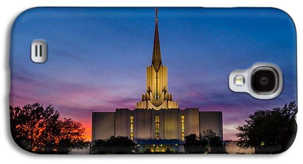 Jordan Photographs Galaxy S4 Cases - Jordan River Temple Sunset Galaxy S4 Case by La Rae  Roberts