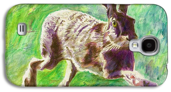 March Hare Galaxy S4 Cases - Joyful Hare Galaxy S4 Case by Helen White