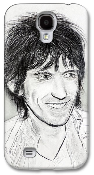 Keith Richards Galaxy S4 Cases - Keith Richards 77 Galaxy S4 Case by Ruth Jamieson