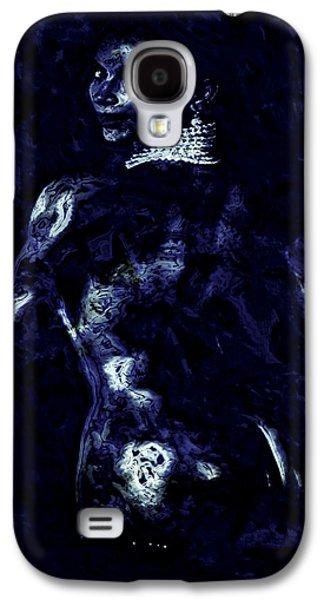 Kim Digital Art Galaxy S4 Cases - Kim Kardashian Galaxy S4 Case by Brian Reaves