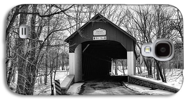 Old Roadway Galaxy S4 Cases - Knechts Covered Bridge Galaxy S4 Case by Paul Ward