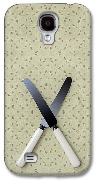 Table Cloth Galaxy S4 Cases - Knives Galaxy S4 Case by Joana Kruse