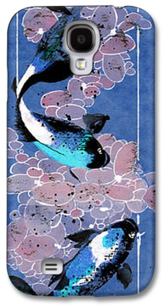 Waterscape Galaxy S4 Cases - Koi and River Stones Galaxy S4 Case by Linda Smith