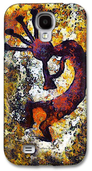 Lore Galaxy S4 Cases - Kokopelli The Flute Player Galaxy S4 Case by Barbara Snyder