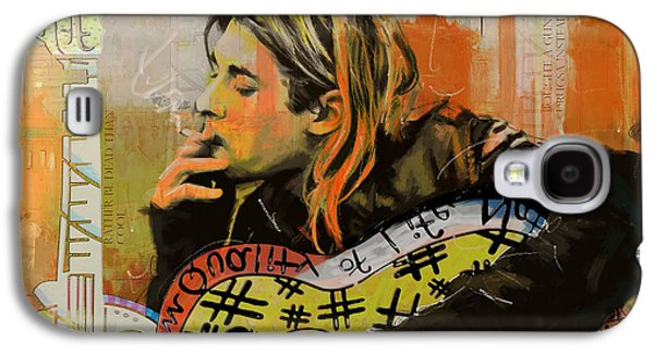 Rock N Roll Paintings Galaxy S4 Cases - Kurt Cobain Galaxy S4 Case by Corporate Art Task Force