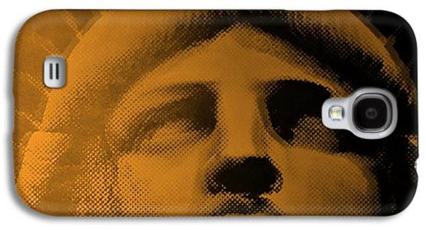 Statue Portrait Galaxy S4 Cases - LADY LIBERTY in ORANGE Galaxy S4 Case by Rob Hans