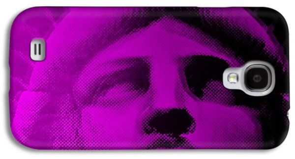 Statue Portrait Galaxy S4 Cases - LADY LIBERTY in PURPLE Galaxy S4 Case by Rob Hans