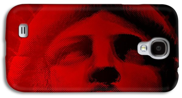 Statue Portrait Galaxy S4 Cases - LADY LIBERTY in RED Galaxy S4 Case by Rob Hans