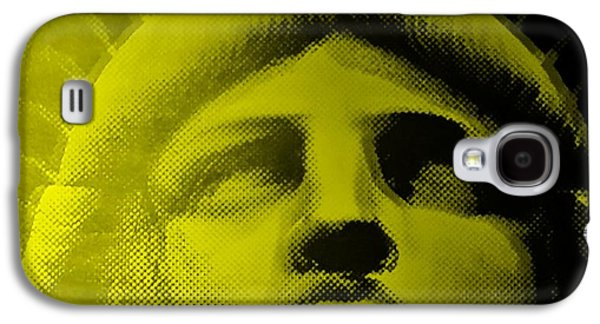 Statue Portrait Galaxy S4 Cases - LADY LIBERTY in YELLOW Galaxy S4 Case by Rob Hans