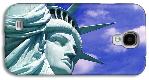 Statue Galaxy S4 Cases - Lady Liberty Galaxy S4 Case by Jon Neidert
