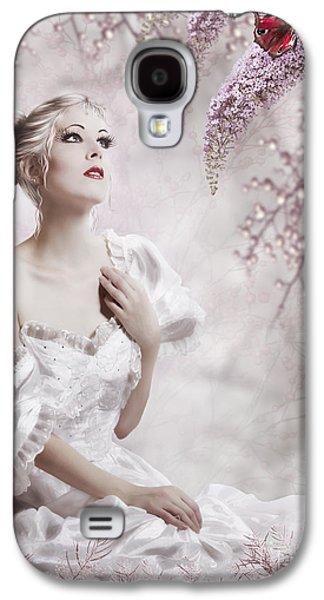 Innocence Mixed Media Galaxy S4 Cases - Lady Galaxy S4 Case by Svetlana Sewell