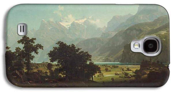 Lucerne Galaxy S4 Cases - Lake Lucerne Galaxy S4 Case by Albert Bierstadt