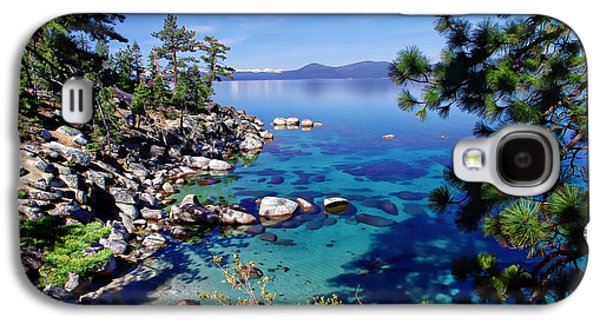 Snow-covered Landscape Galaxy S4 Cases - Lake Tahoe Swimming Hole Galaxy S4 Case by Scott McGuire
