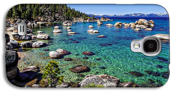 Snow-covered Landscape Galaxy S4 Cases - Lake Tahoe Waterscape Galaxy S4 Case by Scott McGuire