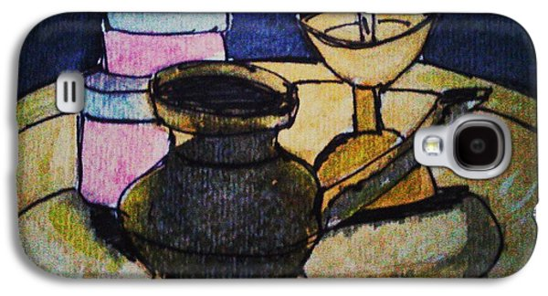 Water Jars Paintings Galaxy S4 Cases - Lamp Galaxy S4 Case by Vineeth Menon