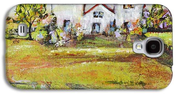 Artistic Paintings Galaxy S4 Cases - Landscape Art Scenic Fields Galaxy S4 Case by Blenda Studio