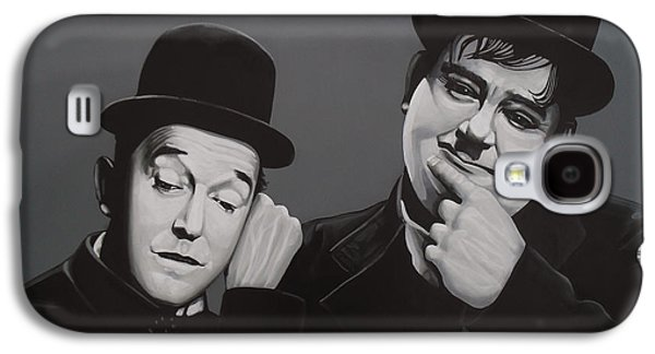 Lucky Dogs Galaxy S4 Cases - Laurel and Hardy Galaxy S4 Case by Paul  Meijering