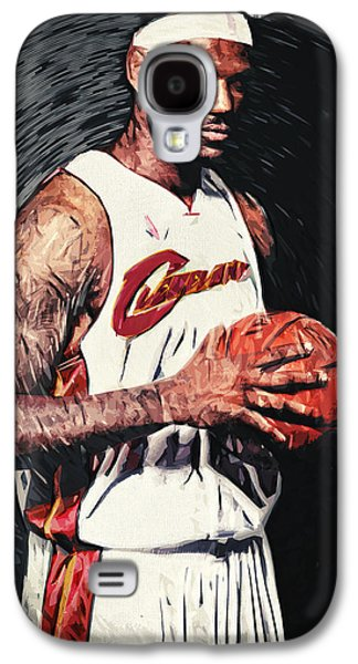 Athlete Digital Galaxy S4 Cases - LeBron james Galaxy S4 Case by Taylan Soyturk