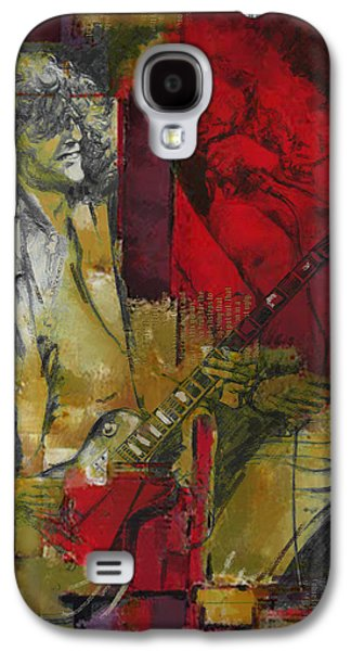 Rock N Roll Paintings Galaxy S4 Cases - Led Zeppelin  Galaxy S4 Case by Corporate Art Task Force