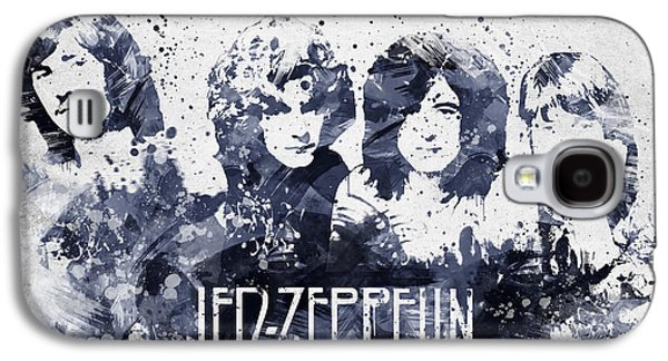 Famous Band Galaxy S4 Cases - Led Zeppelin Portrait Galaxy S4 Case by Aged Pixel