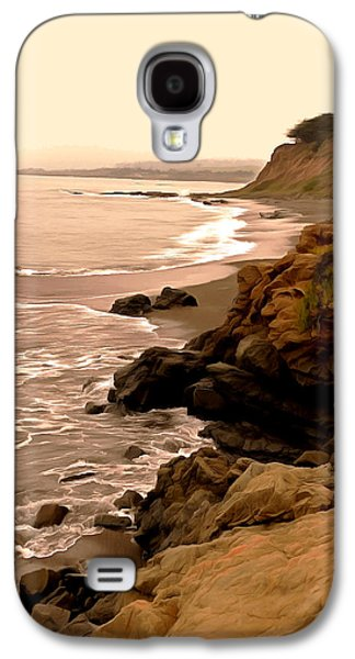 Coast Highway One Galaxy S4 Cases - Leffingwell Landing Cambria Digital Painting Galaxy S4 Case by Barbara Snyder