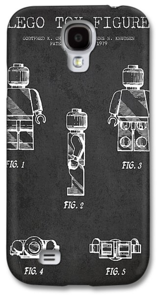 Lego Digital Art Galaxy S4 Cases - Lego Toy Figure Patent - Dark Galaxy S4 Case by Aged Pixel