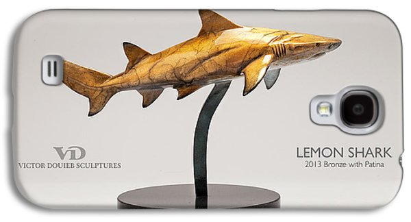 Sharks Sculptures Galaxy S4 Cases - Lemon Shark Galaxy S4 Case by Victor Douieb