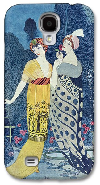 Color Drawings Galaxy S4 Cases - Les Modes Galaxy S4 Case by Georges Barbier