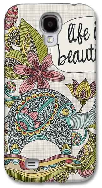 Illustration Photographs Galaxy S4 Cases - Life Is Beautiful Galaxy S4 Case by Valentina