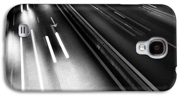 Asphalt Galaxy S4 Cases - Light Trails Galaxy S4 Case by Carlos Caetano