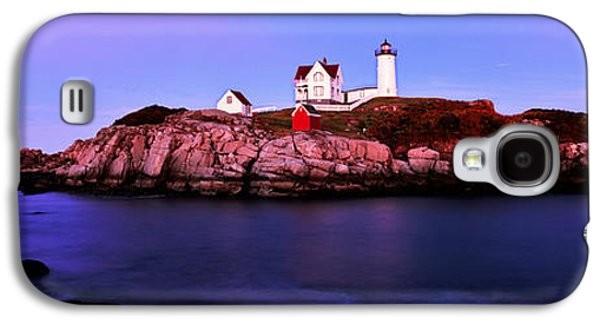 Cape Neddick Galaxy S4 Cases - Lighthouse At A Coast, Nubble Galaxy S4 Case by Panoramic Images