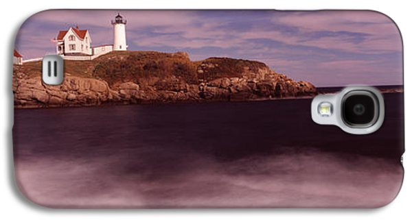 Cape Neddick Galaxy S4 Cases - Lighthouse On The Coast, Nubble Galaxy S4 Case by Panoramic Images