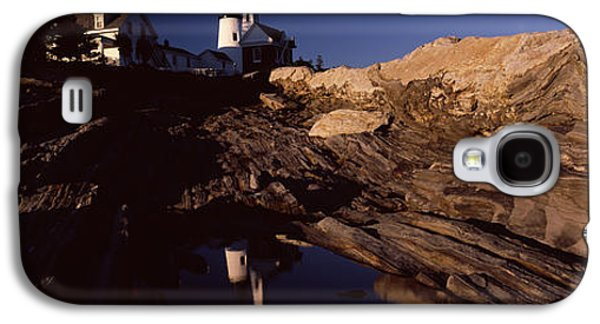 Maine Mountains Galaxy S4 Cases - Lighthouse On The Coast, Pemaquid Point Galaxy S4 Case by Panoramic Images