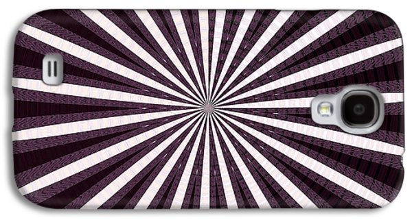 Abstract Digital Mixed Media Galaxy S4 Cases - Lights n Shades Purple n White Stripe Abstract art for Dark Rooms and Corridors also see Throw Pillo Galaxy S4 Case by Navin Joshi