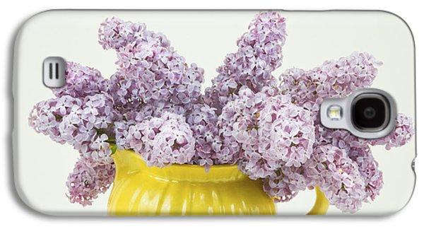 Lilacs Galaxy S4 Cases - Lilac Boquet - Yellow Vase Galaxy S4 Case by Keith Webber Jr