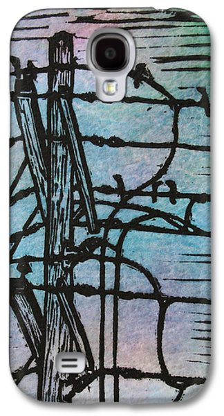 Lines  And Birds Galaxy S4 Case by William Cauthern