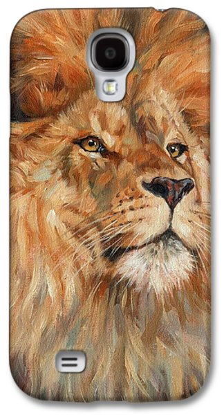 Lion Galaxy S4 Case by David Stribbling
