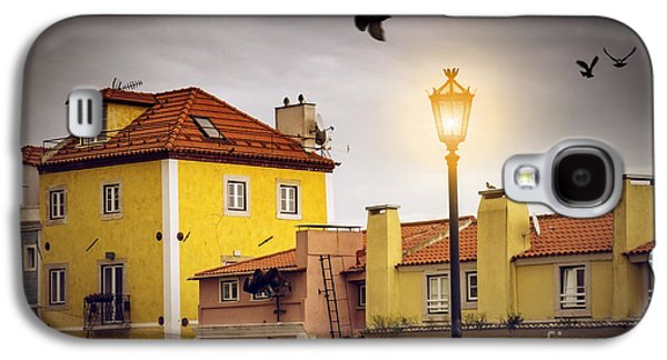 Ancient Galaxy S4 Cases - Lisbon Houses Galaxy S4 Case by Carlos Caetano