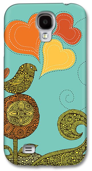 Illustration Photographs Galaxy S4 Cases - Little Bird In The Flower Galaxy S4 Case by Valentina Ramos
