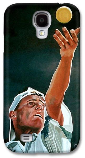 Tennis Player Galaxy S4 Cases - Lleyton Hewitt Galaxy S4 Case by Paul  Meijering