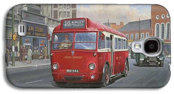 Streetscenes Paintings Galaxy S4 Cases - London Transport Q type. Galaxy S4 Case by Mike  Jeffries